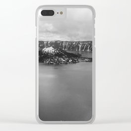 Mountain Lake View B&W Clear iPhone Case