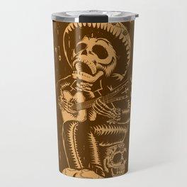 Dia De Los Muertos woodcut Travel Mug