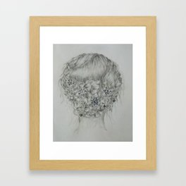 Updo with flowers Framed Art Print