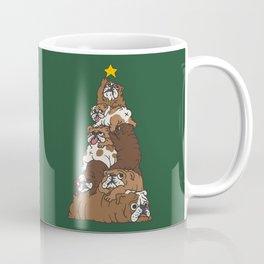 Christmas Tree English Bulldog Coffee Mug