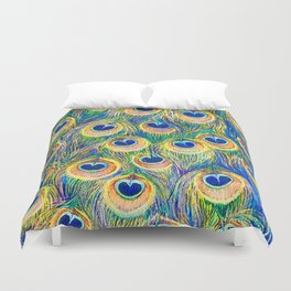 Peacock Freathers Duvet Cover