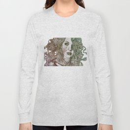 Wake: Autumn (street art woman with maple leaves tattoo) Long Sleeve T-shirt