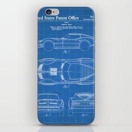Classic Car Patent - American Car Art - Blueprint iPhone Skin