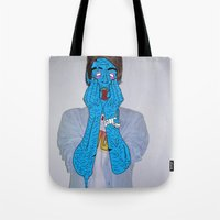 zombie Tote Bags featuring Zombie by Digital Death
