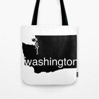 washington Tote Bags featuring Washington by Isabel Moreno-Garcia
