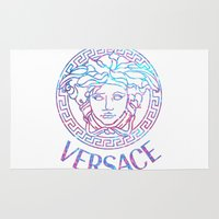 versace Area & Throw Rugs featuring Versace always stuntin' by Goldflakes