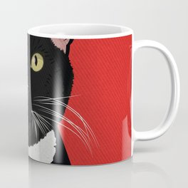 Tuxedo Cat Design in Bold Colors for Pet Lovers Coffee Mug
