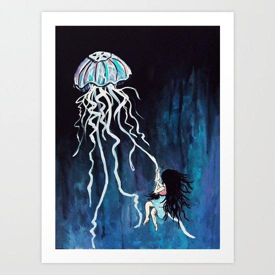 fall down, never get back up again Art Print