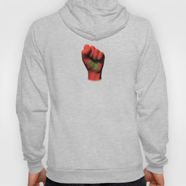 Moroccan Flag on a Raised Clenched Fist Hoody