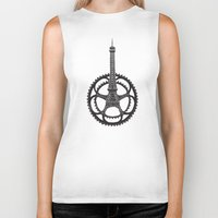 tour de france Biker Tanks featuring Le Tour de France by Foster Type