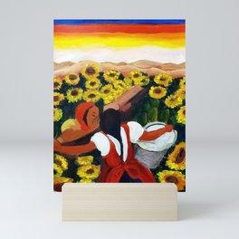 Classical Masterpiece Mexican Sunflowers 'Chismosas' floral landscape painting Mini Art Print