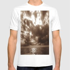 freedom on the water MEDIUM Mens Fitted Tee White