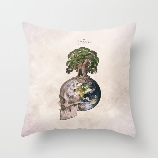 Life (Wandering Through Space) Throw Pillow