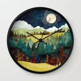 Autumn Moon Wall Clock