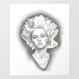 Imperial Paeonia Art Print