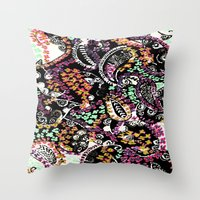 paisley Throw Pillows featuring PAISLEY by  Ray Athi