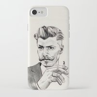 moustache iPhone & iPod Cases featuring Moustache by hectordanielvargas