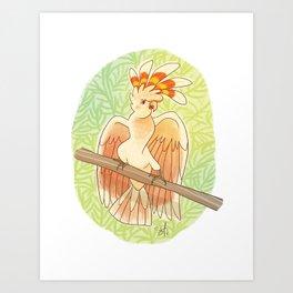 Diva Parrot Art Print