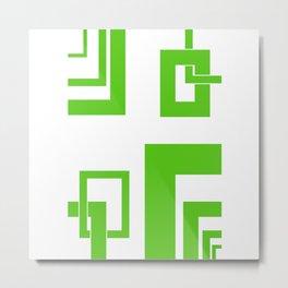 4.5 - frames - green Metal Print