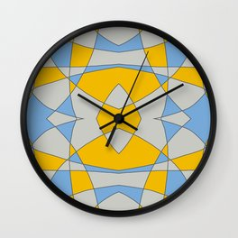 Abstract Retro Colored Butterfly Wall Clock