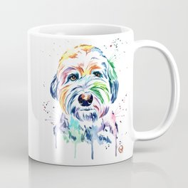 Sheepdog Watercolor Pet Portrait Painting - Gus the Sheepdog Coffee Mug