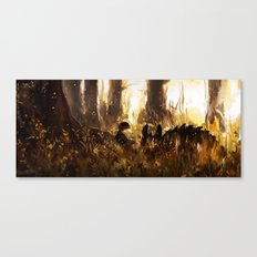 Sunshine Forests with Hiccup and Toothless Canvas Print