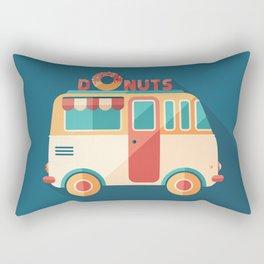 Donuts Van Rectangular Pillow