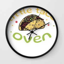 Funny Pregnancy Announcement Little Taco in Oven Wall Clock