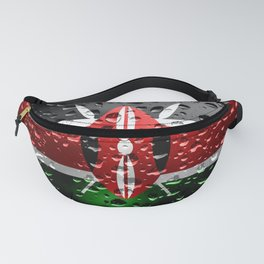 Flag of Kenya - Raindrops Fanny Pack
