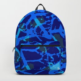 Blue Palm Shadows Backpack