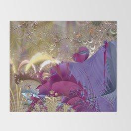 Feelings of being in love -- Fractal illustration Throw Blanket