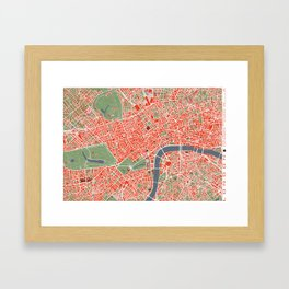 London city map classic Framed Art Print