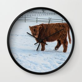 Are you looking at me, Scotish Highland Cow Wall Clock