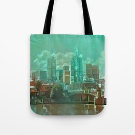Melbourne Waterfront Abstract Tote Bag