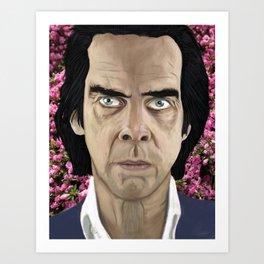 Nick Cave eyes don't lie baby Art Print