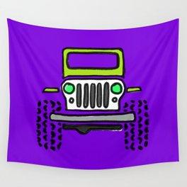 Jeep 'Drawing' PURPLE Wall Tapestry