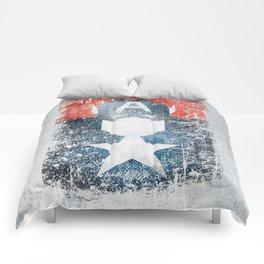 Yankee Captain grunge superhero Comforters