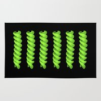 pasta Area & Throw Rugs featuring green pasta IV by blackpool