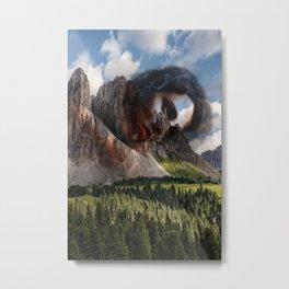 Mountain portrait woman Metal Print