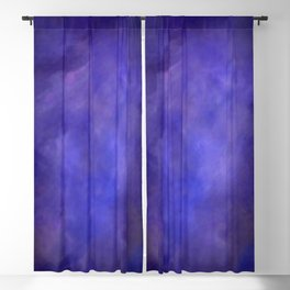 Abstract Watercolor Blend 2 Deep Purple and Blue Blackout Curtain