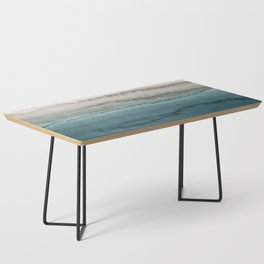 WITHIN THE TIDES - CRASHING WAVES TEAL Coffee Table