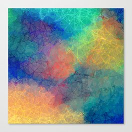 Reflecting Multi Colorful Abstract Prisms Design Canvas Print