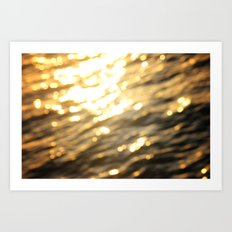 Golden Paradise Art Print