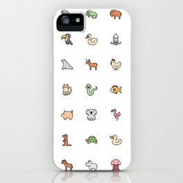 Cute Animals Pattern! Perfect Educational Poster Gift for Kids, Toddlers, Children. iPhone Case