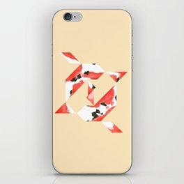Tangram Koi - Yellow background iPhone Skin