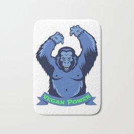Gorilla Monkey Vegan Power Plants Vegetarian Gift Bath Mat