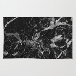 Black and Gray Marble Pattern Rug