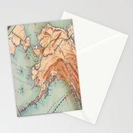 Old Alaskan Map Stationery Cards