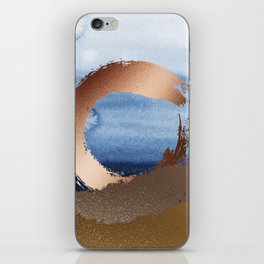 Inspiration: Gold, Copper And Blue iPhone Skin