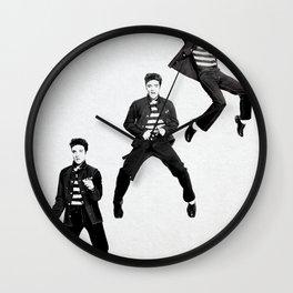 Elvis Presley Promotional photos for Jailhouse Rock, 1957 Wall Clock